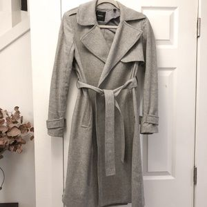 Theory Oaklane Wool Blend Trenchcoat